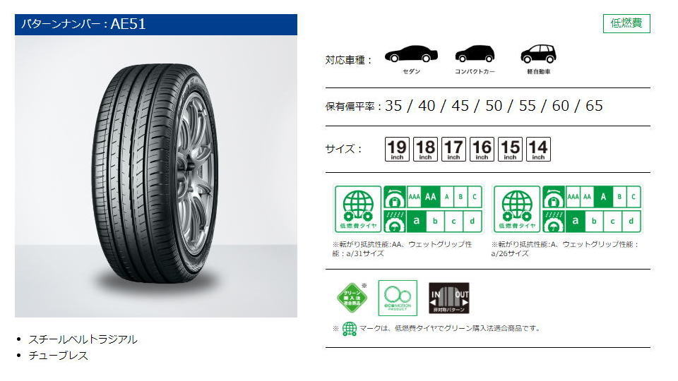 245 45 17 >> BluEarth-GT AE51 ヨコハマタイヤ-YOKOHAMA TIRE-ブルーアースGT激安、格安、最安HIRANO TIREオンラインカタログ
